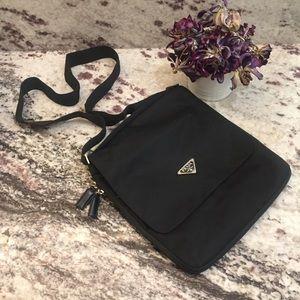 PRADA | Nylon crossbody swingpack in black